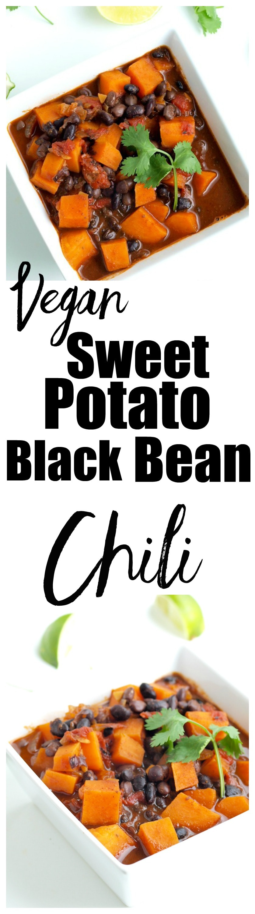 Sweet Potato and Black Bean Chili Recipe. This is a healthy fall recipe that is always a hit! Vegan and gluten-free chili that is an easy and healthy weeknight meal.