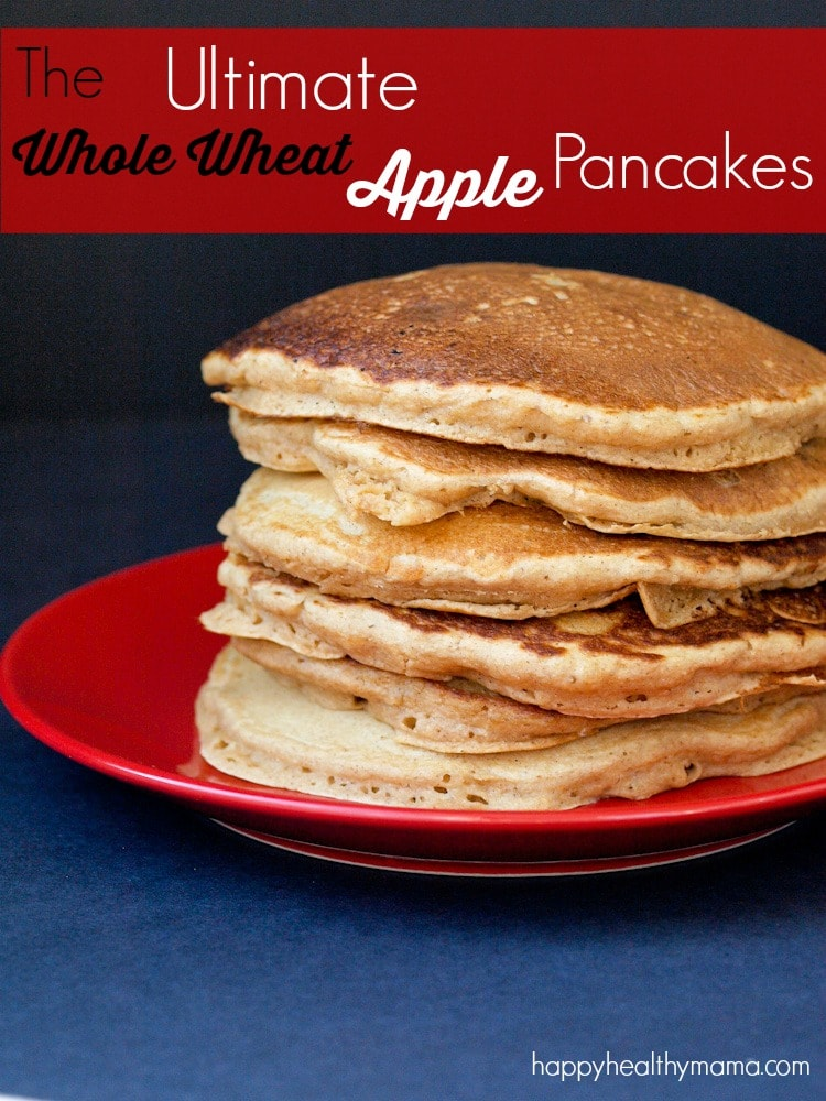 These are THE BEST whole wheat pancakes I've ever tasted! The apple flavor is incredible--you will never guess you're eating a healthy pancakes. My kids constantly ask me to make these. You need to give this recipe a try!