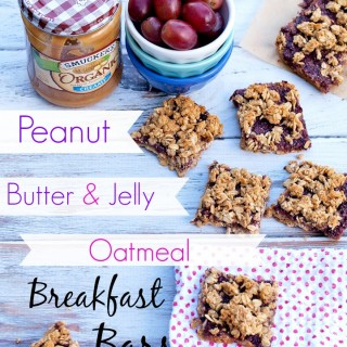 Peanut Butter and Jelly Oatmeal Breakfast Bars