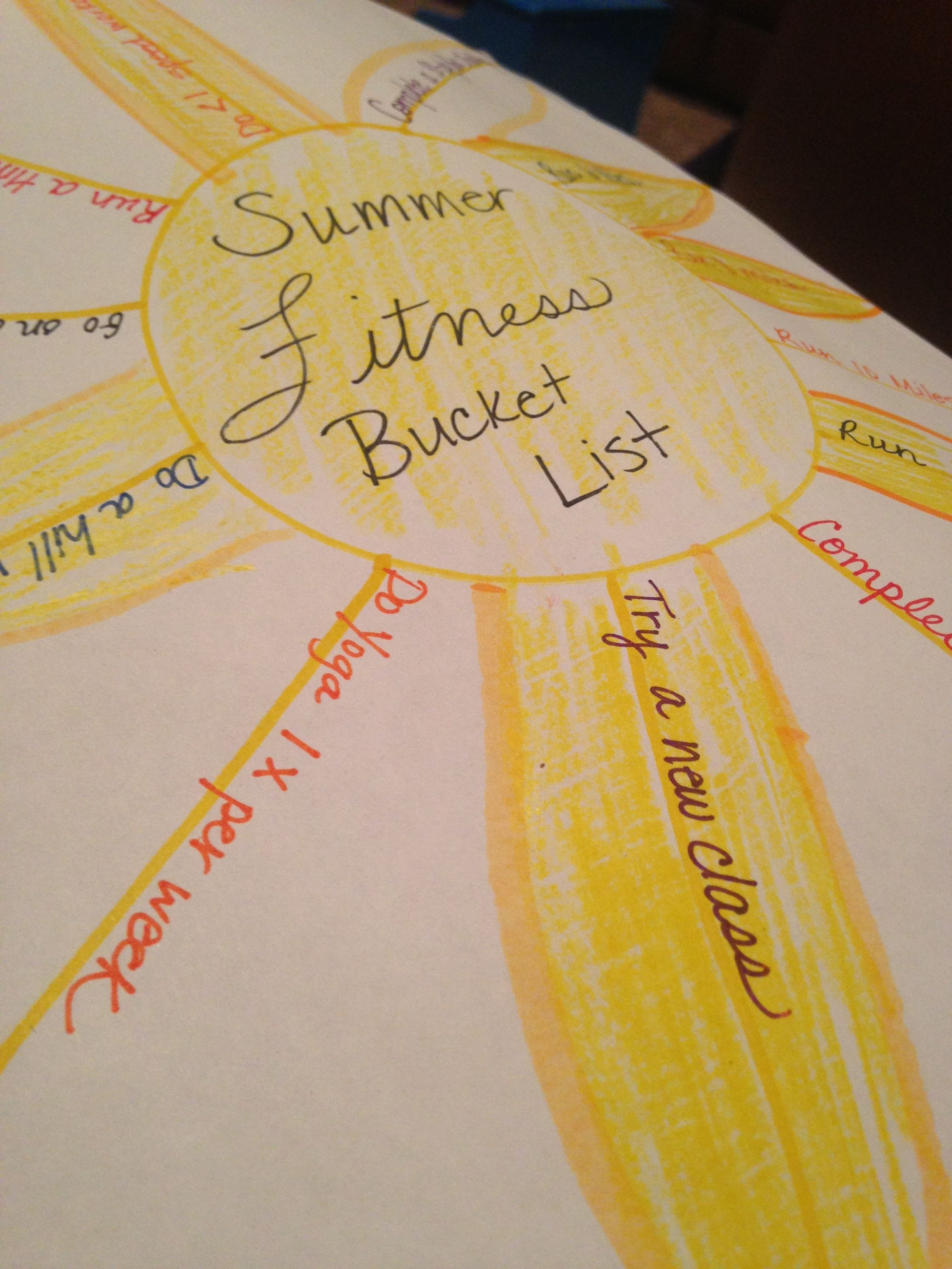 Summer Fitness Bucket List: Success or Failure?
