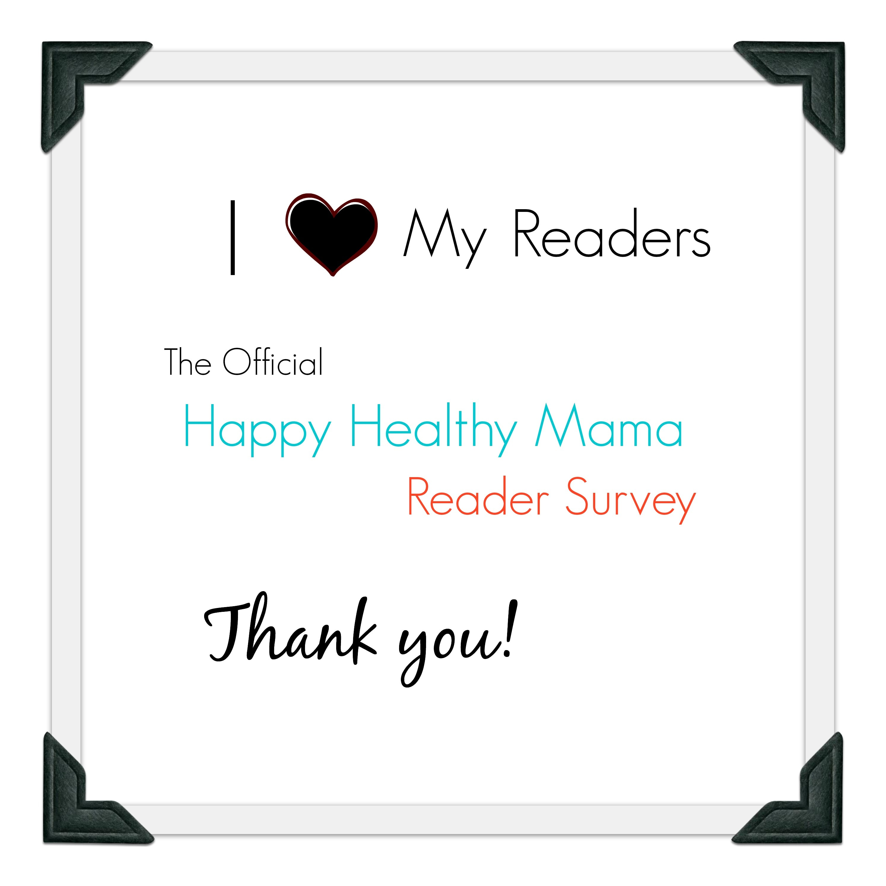 What do you think? The Official Reader Survey