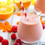 Brighten your morning with this Sunset Smoothie! A great way to add lots of fruits and even a vegetable to your day.