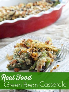 Healthy Recipe Makeover:  Green Bean Casserole {vegan and gluten-free}