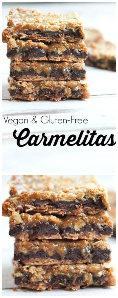 vegan and gluten free dessert idea these carmelitas are the best cookie bar you