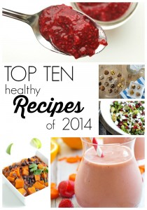 Come and see the Top 10 Healthy Recipes from 2014 found on Happy Healthy Mama. You don't want to miss these!