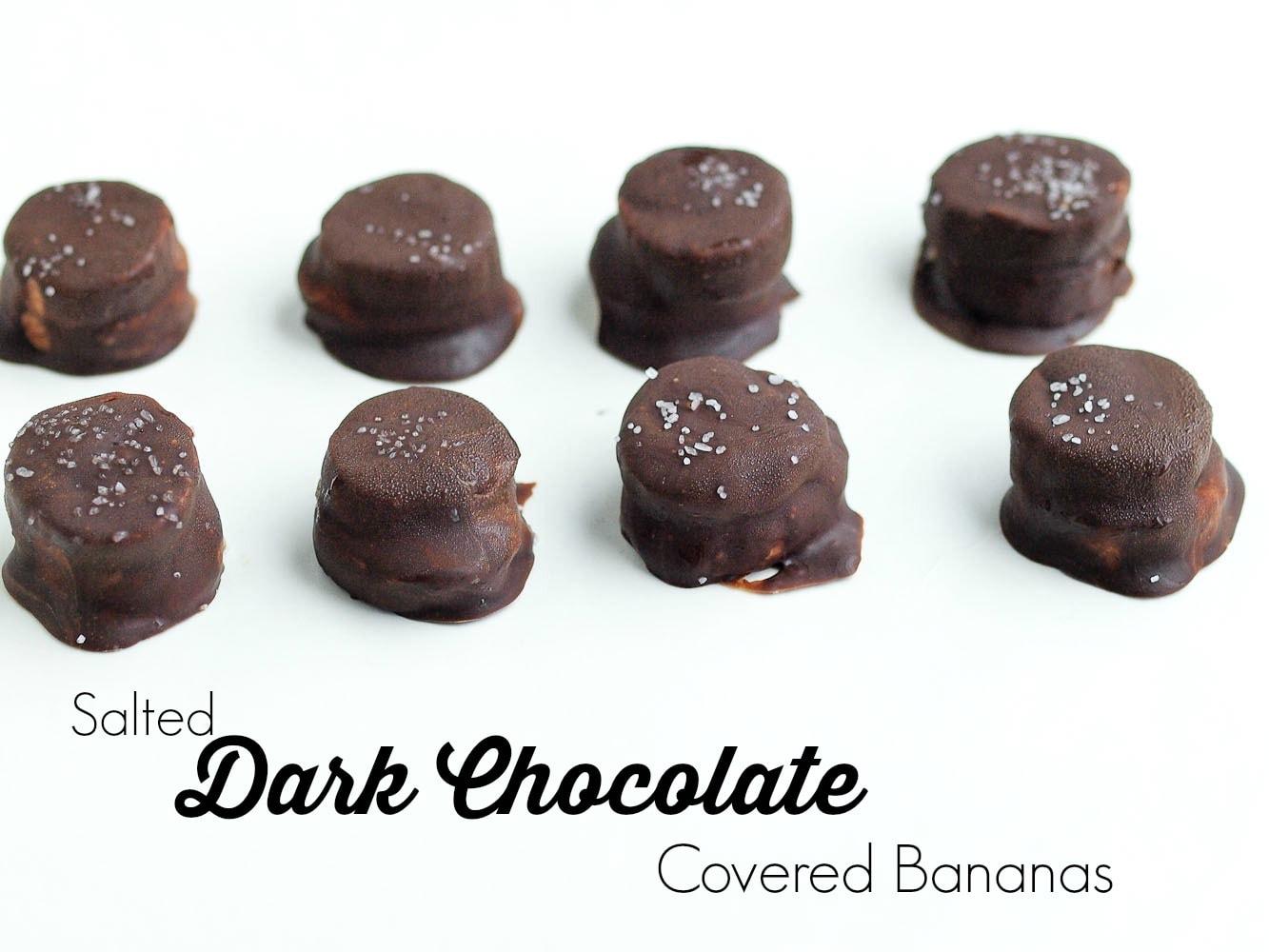 Salted Dark Chocolate Covered Bananas - Happy Healthy Mama