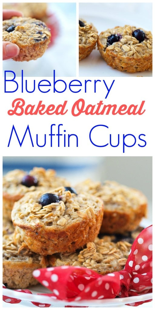 Blueberry Baked Oatmeal Muffin Cups Happy Healthy Mama