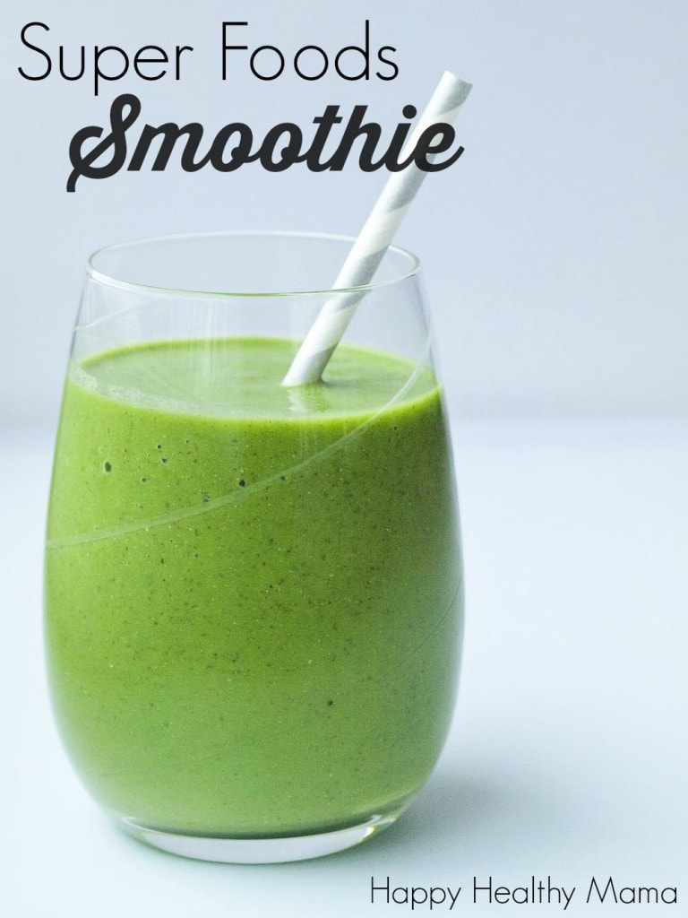 This Super Foods Smoothie is a great way to start your day! It's fresh and energizing and sets your whole day up for success.