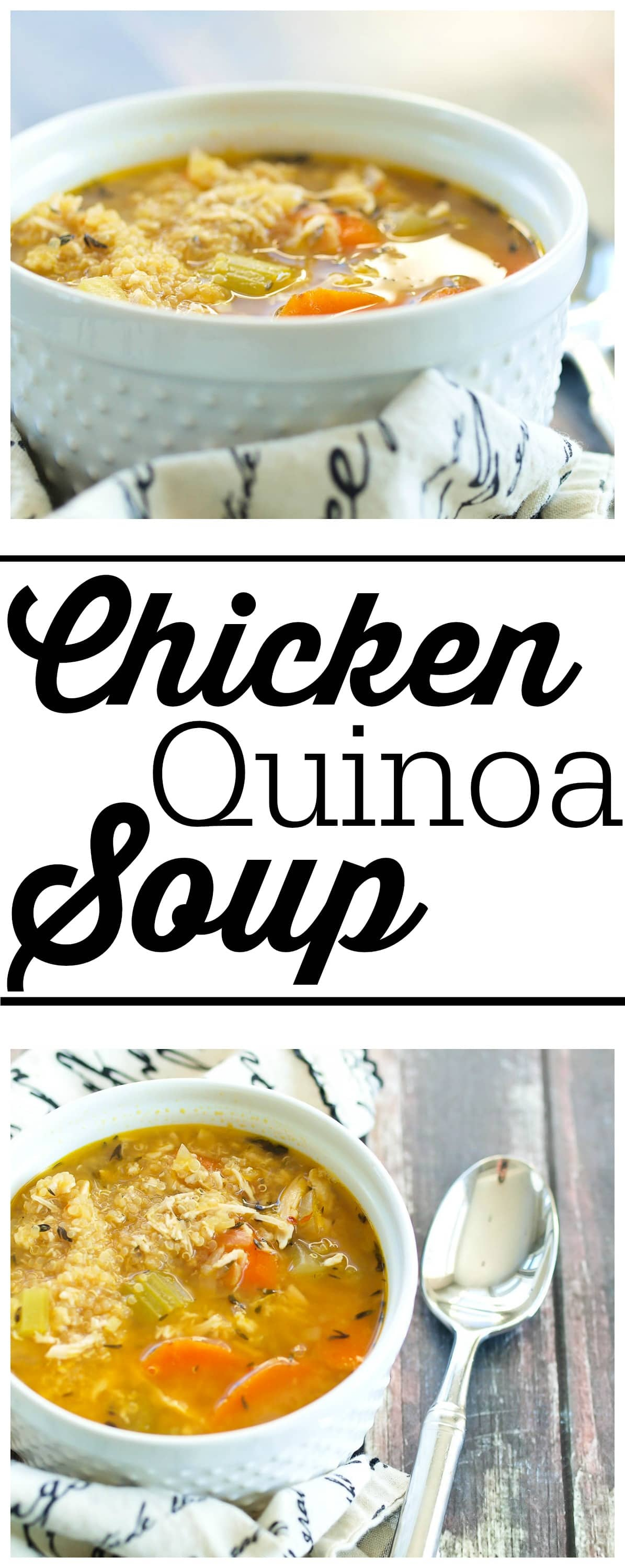 Chicken Quinoa Soup Is An Updated Classic! All The Flavor Of Chicken Noodle  Soup But