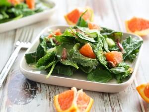Power Greens Salad with Cara Cara Orange, Almonds, and Parmesan