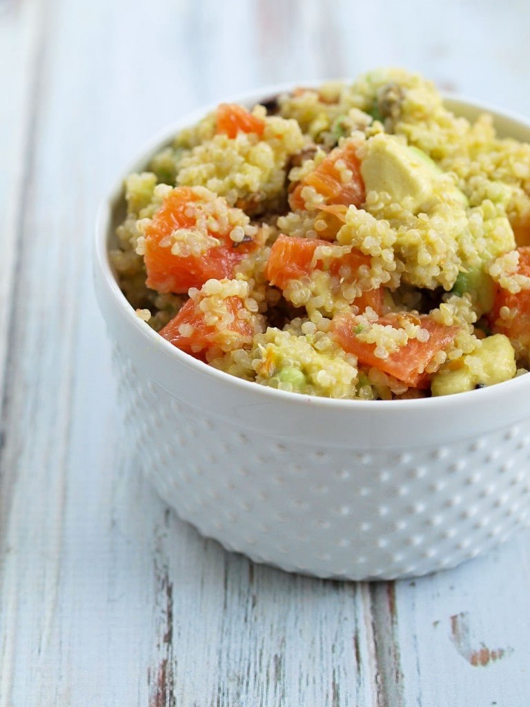 Quinoa Avocado Salad with Orange, Pistachios, and Oil-free Lime Dressing. Quick and healthy recipe and delicious!