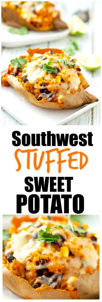 Southwest Stuffed Sweet Potato Recipe. healthy gluten-free vegetarian ...