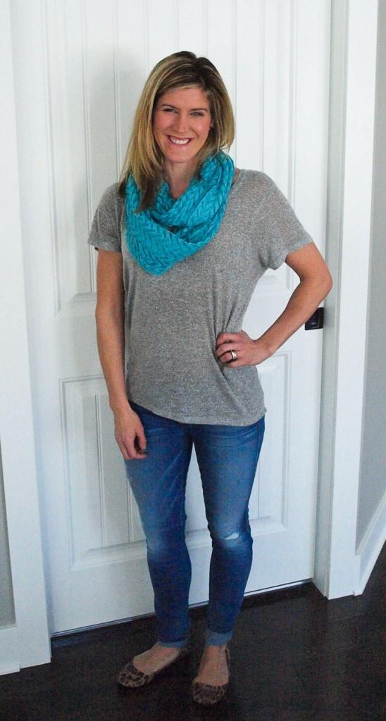 Stitch Fix Review March 2014 Octavia Gweneth Chevron Lace Infinity Scarf $28