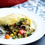 Vegetarian Shepard's Pie. Uses lentils instead of meat. My husband loved this vegetarian dinner recipe!