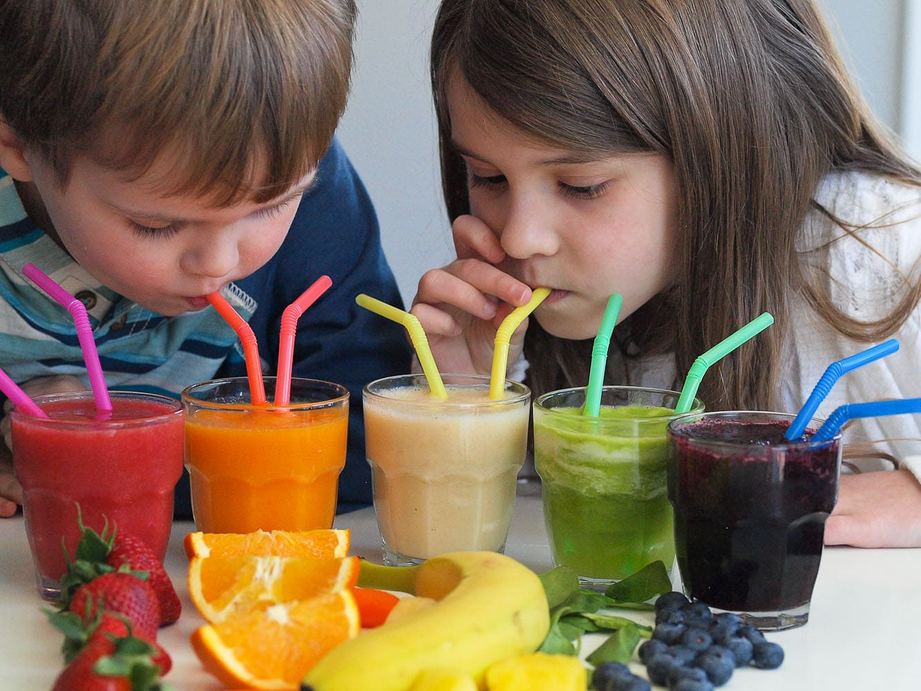 Rainbow Smoothies A Tasting Activity For Kids on Digestive System For Kids