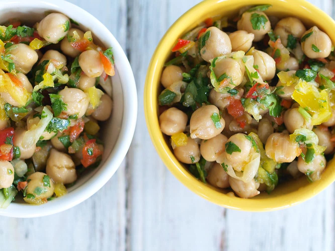 Chickpea Salad Recipe - Happy Healthy Mama
