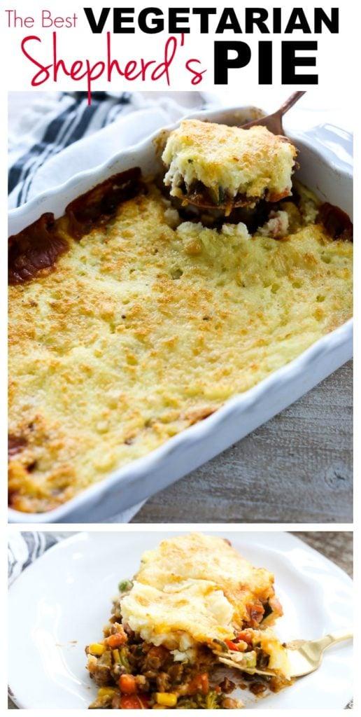 Shepherd's Pie Recipe #easy #dinner #healthy #vegetarian