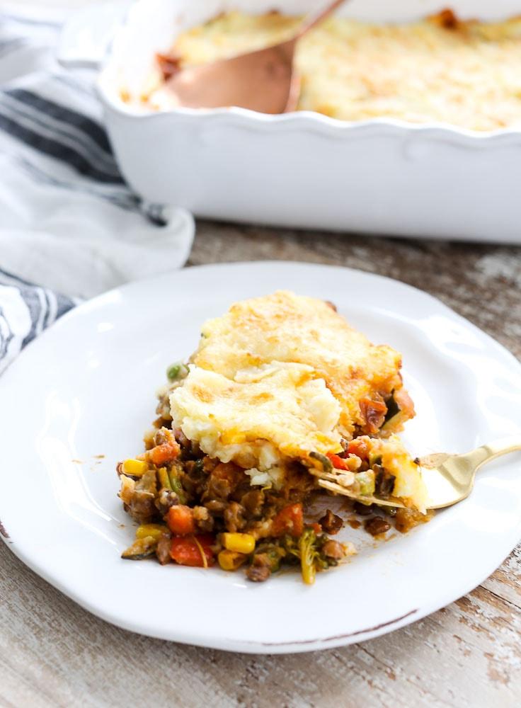 Vegetarian Shepherd's Pie healthy recipe