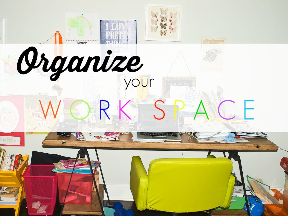 Spring Cleaning Challenge: An Organized Workspace - Happy ...
