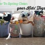 If you feel like your kids' toys are taking over your house, this post is for you! Get control of the clutter with a simple spring cleaning project that will change the way your kids play with their toys!