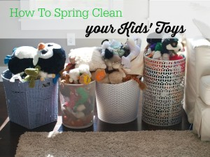 Spring Cleaning Challenge:  The Kids' Toys and Books