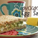 Avocado Egg Salad Sandwich. No mayo in this delicious egg salad recipe!