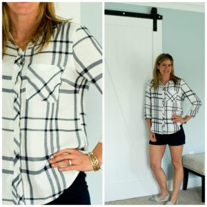 May Stitch Fix Review: Staccato Margaux Button Up Top
