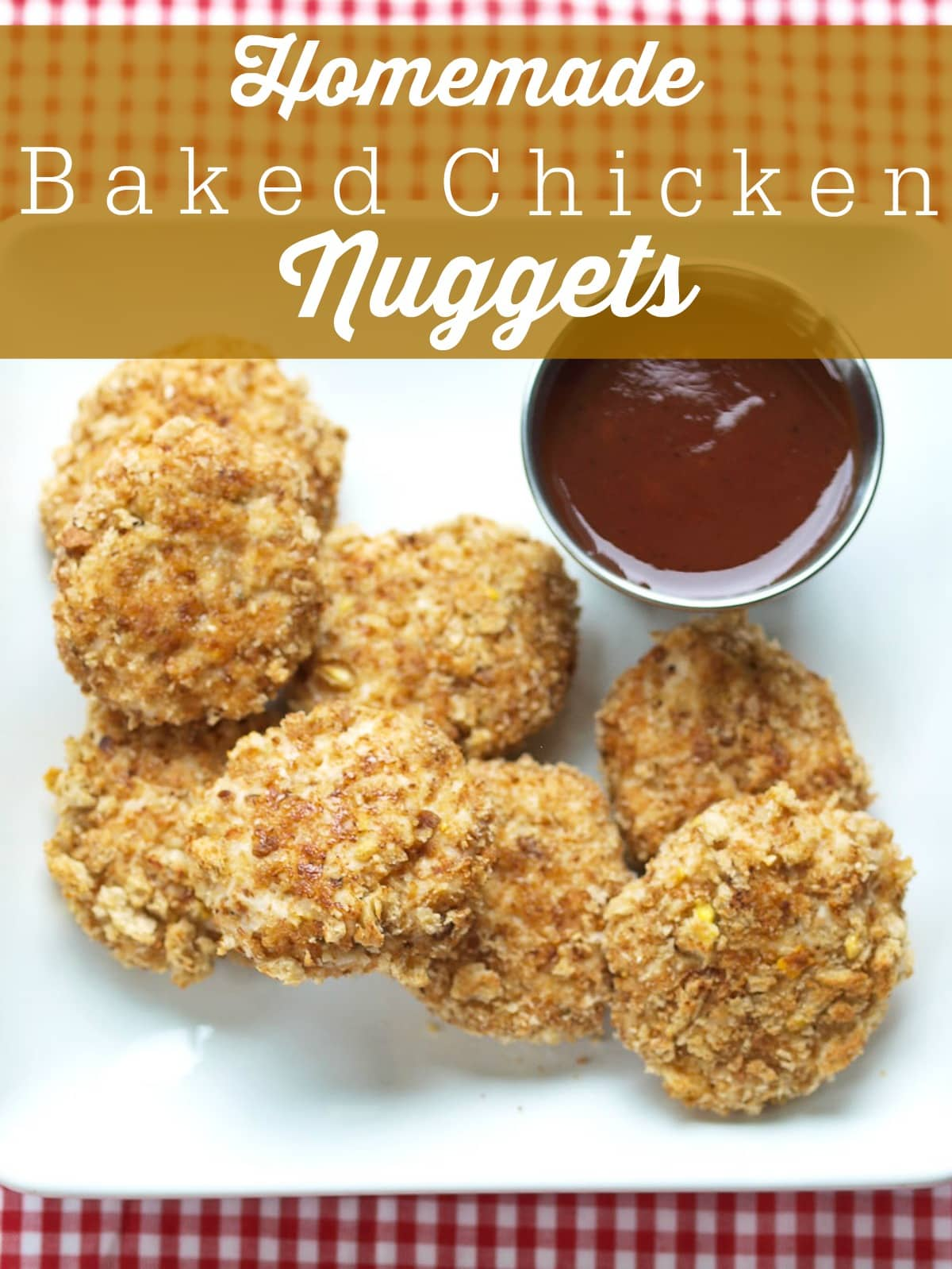 Homemade Baked Chicken Nuggets. Finally! A homemade chicken nugget recipe the whole family loves! Soft enough for your toddler and satisfying enough for the parents, too. These also freeze great so you can make a huge batch for those busy nights. They are so easy to make also! Easy and healthy weeknight recipe.
