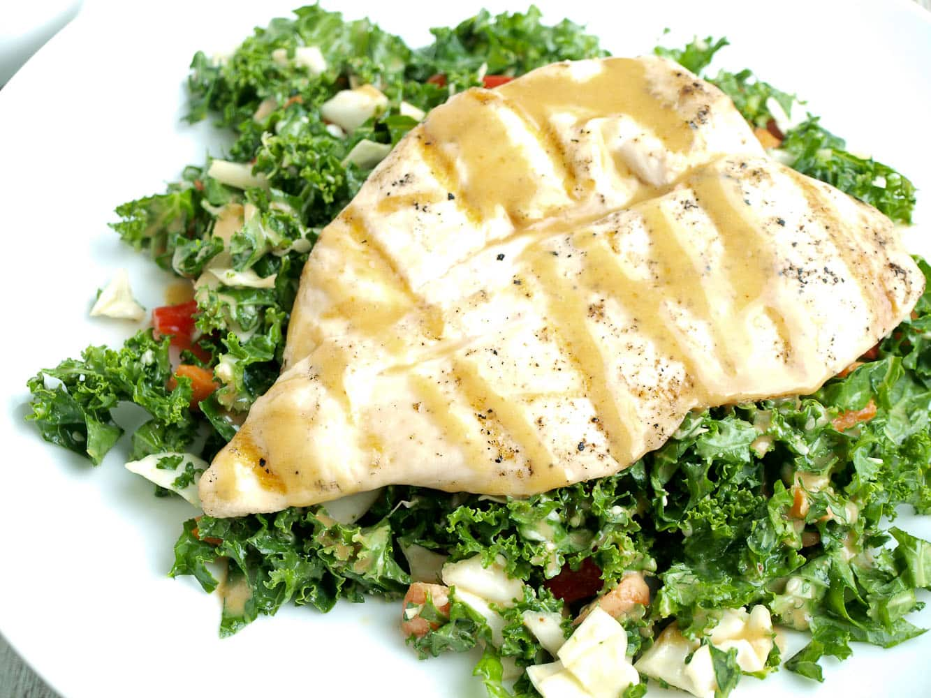 Asian kale salad with grilled chicken happy healthy mama asian kale salad with grilled chicken an easy and healthy weeknight dinner recipe that can forumfinder Images