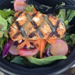 What I Ate Wednesday (Lunch-Asian Kale Salad with Salmon)