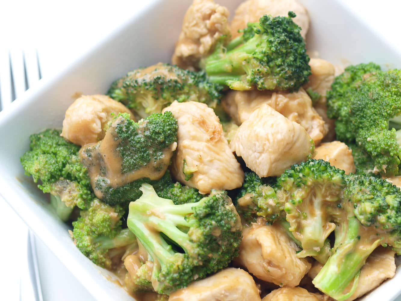 Easy broccoli and chicken with peanut sauce happy healthy mama healthy and easy broccoli and chicken recipe this is a great 30 minute dinner recipe forumfinder Image collections
