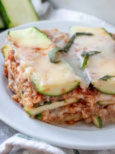 ZUCCHINI QUINOA LASAGNA recipe close up