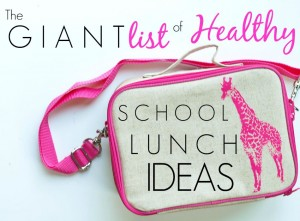 The Giant List of Healthy School Lunch Ideas