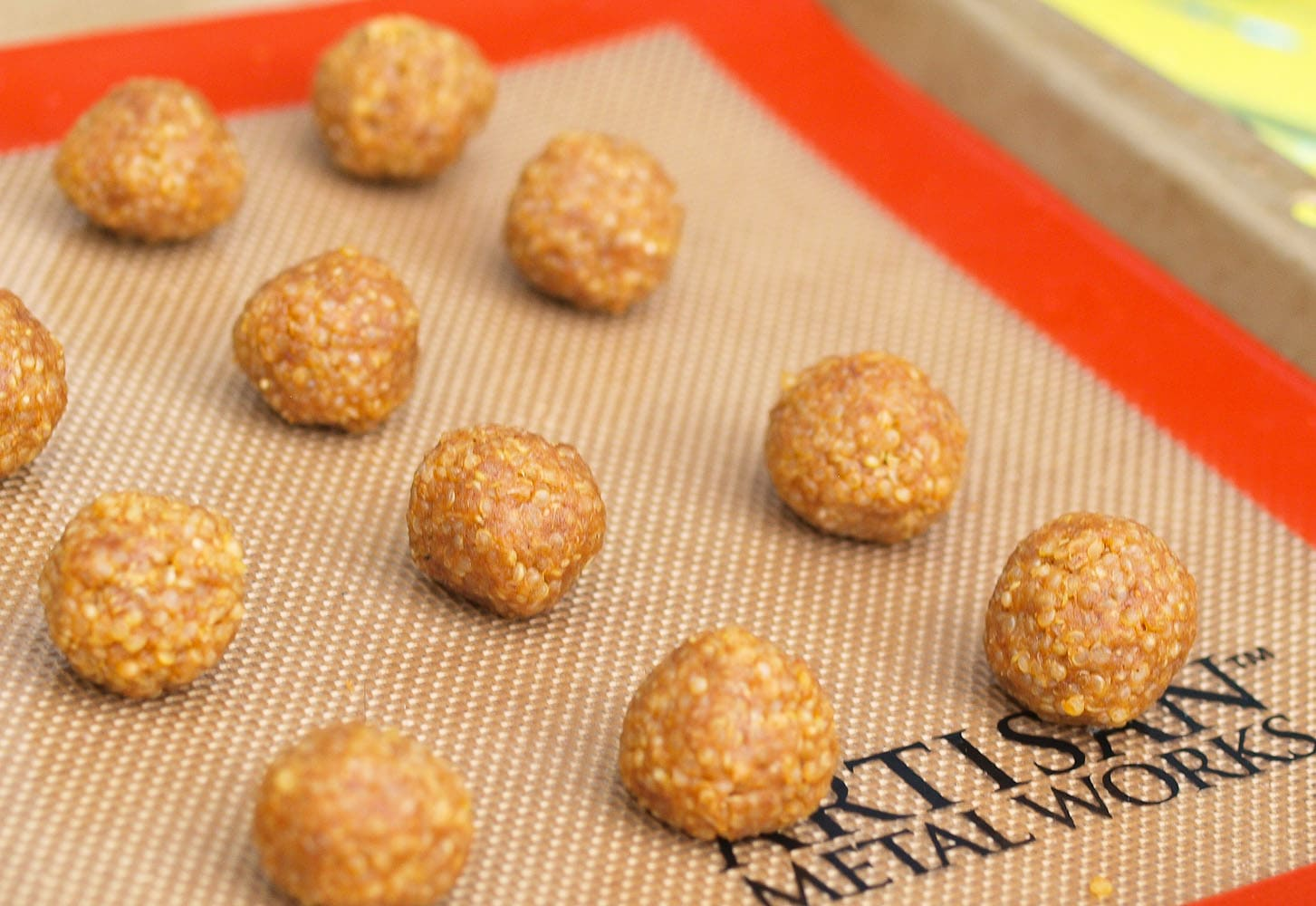 These Quinoa Peanut Butter Snack Balls are easy to make with only 4 ingredients. This is a vegan and gluten-free snack recipe. If your kids won't eat quinoa, give this recipe a try and you might change their mind!