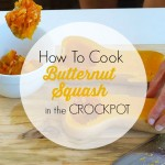 How to Cook Butternut Squash in the crockpot. It's so much easier to cook your butternut squash this way! How many times would your dinner prep be easier if you already had a cooked squash? More of a how-to than a recipe, but the post gives recipes ideas on what to do with the cooked squash. P.S. cutting through a butternut squash is so much easier when it's already cooked!