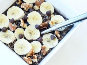 2-Minute Dark Chocolate Brown Rice Porridge