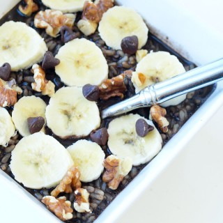 2-Minute Dark Chocolate Brown Rice Porridge