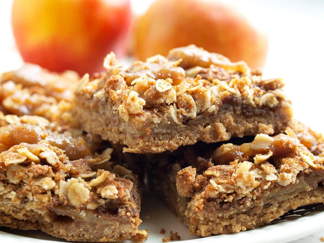 Vegan Salted Caramel Apple Pie Bars