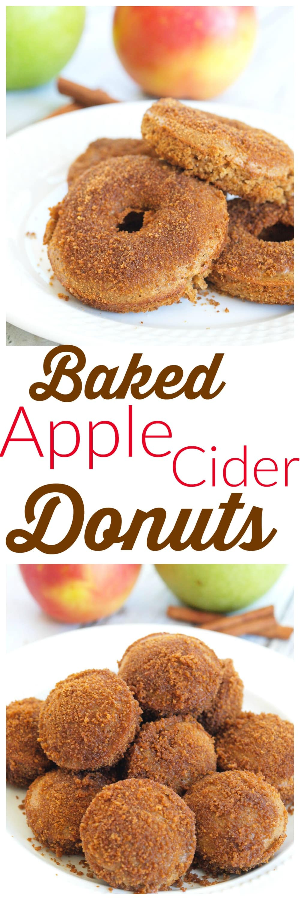 Spiced Apple Cider Baked Donuts - Happy Healthy Mama