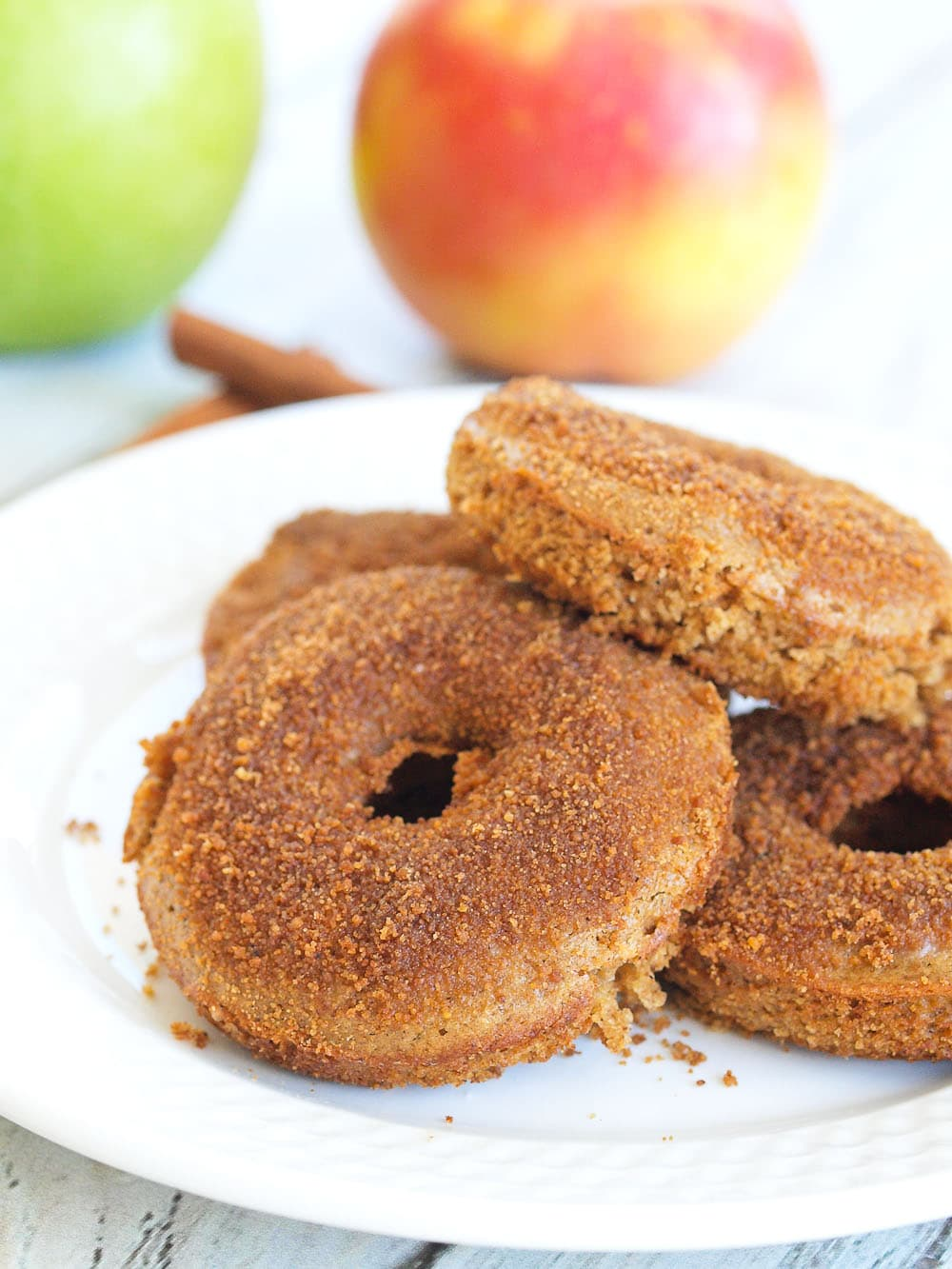 These Baked Apple Cider Donuts are perfect for fall baking! This is a healthy, whole grain recipe that my kids gobbled up in no time. It's easy to make your own healthy donuts at home!