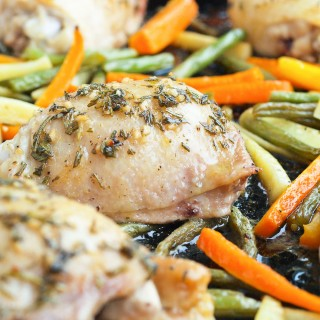 One Pan Chicken and Vegetables with Fresh Herbs