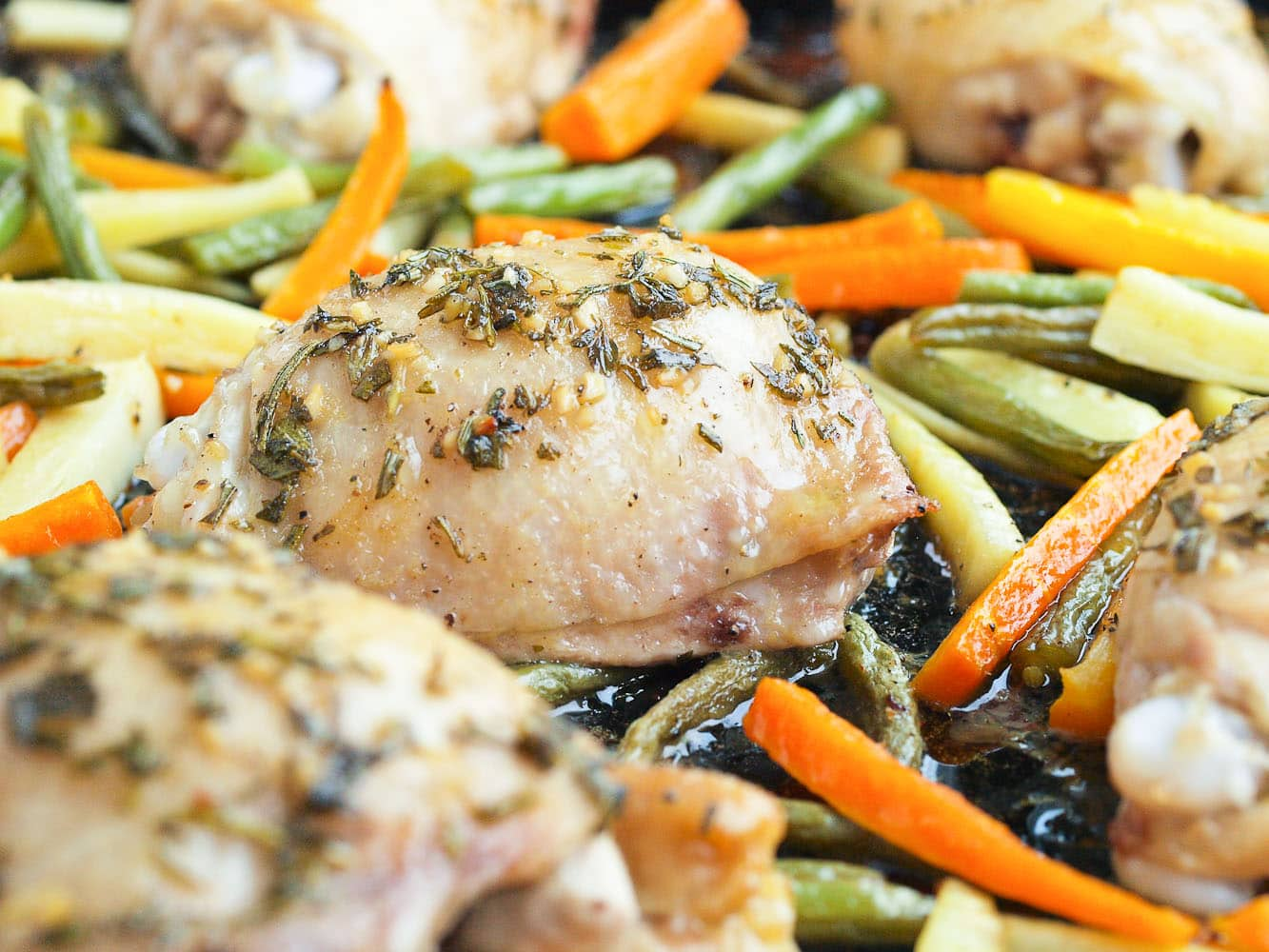 One Pan Chicken And Vegetables With Fresh Herbs Happy Healthy Mama