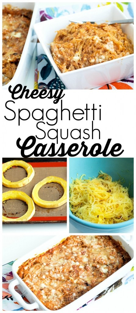 This spaghetti squash casserole recipe is warm and comforting. It makes a great gluten-free dinner!