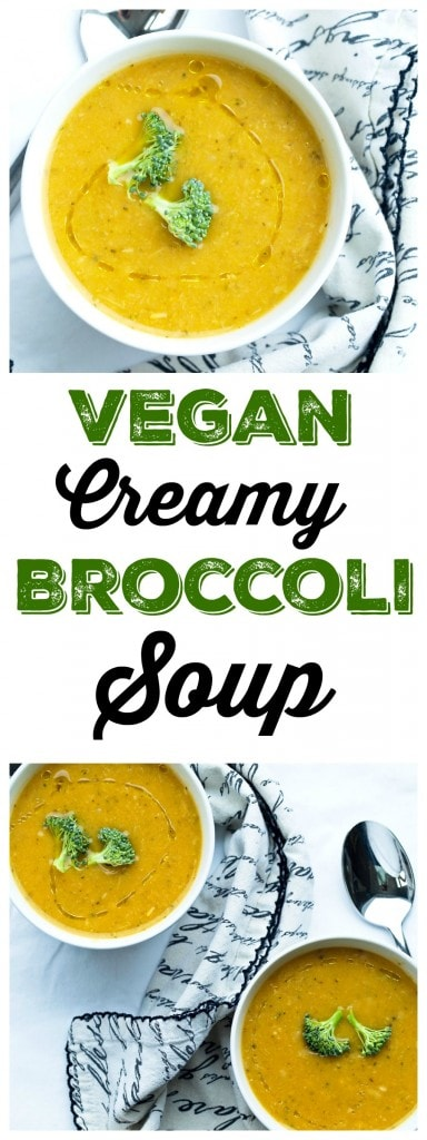 This Broccoli Soup recipe is creamy and flavorful! It's totally vegan, gluten-free, and packed with nutrients. You need to make this one TODAY!
