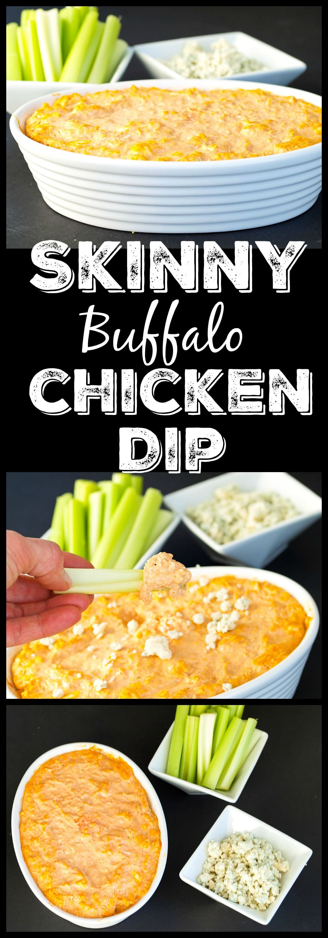 This Skinny Buffalo Chicken Dip is the perfect appetizer for your ...
