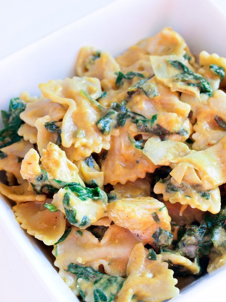 one pot recipe,this Spinach Artichoke Pasta is an easy and flavorful ...
