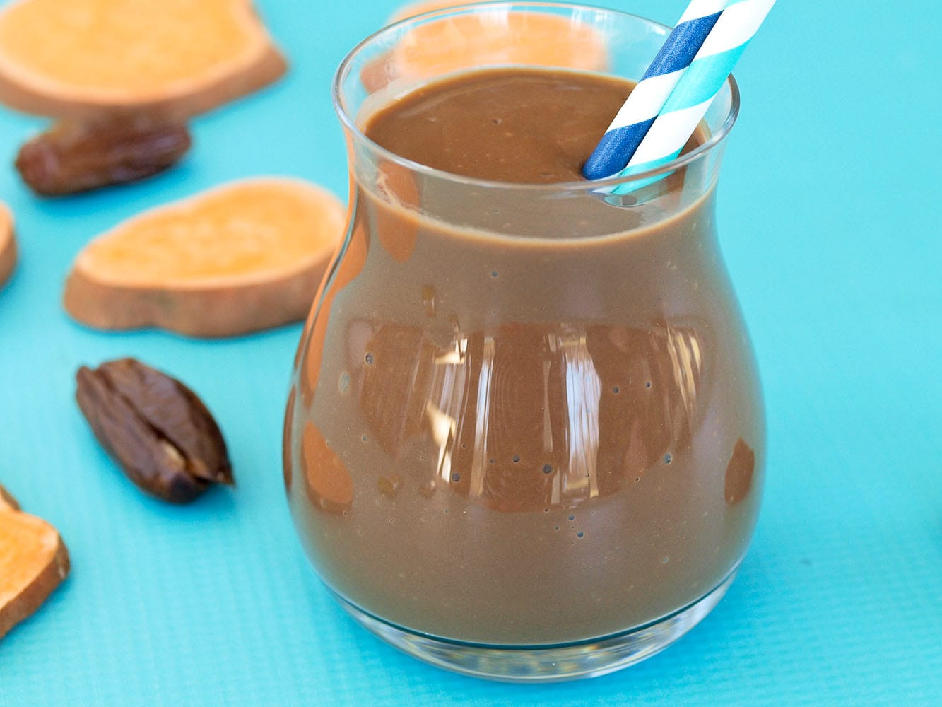 Sweet Potato Chocolate Shake - Happy Healthy Mama