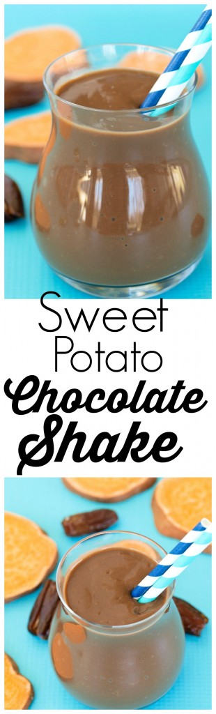 This Sweet Potato Chocolate Shake is rich, creamy and vegan! A healthy treat!