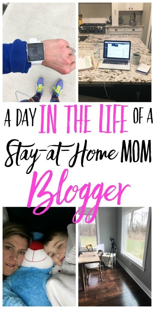 A day in the life of a stay-at-home mom blogger. Ever wonder what life would be like as a mom who blogs? This is a peek behind the scenes showing what it's really like!
