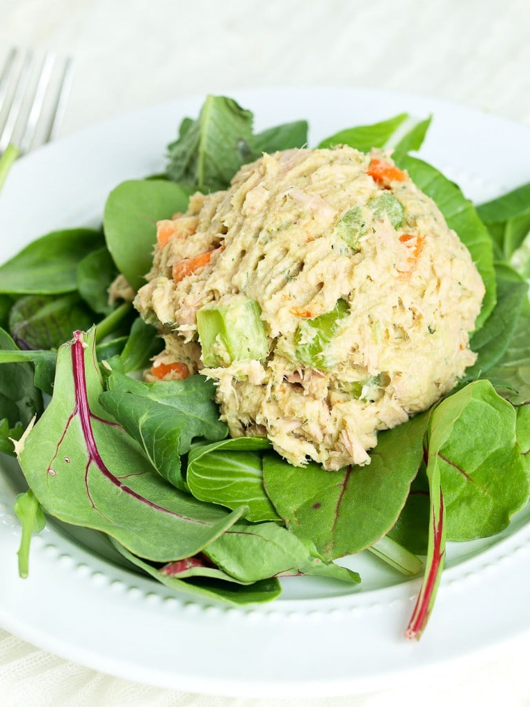 This Avocado Tuna Salad recipe is made with no mayo! This makes a ...
